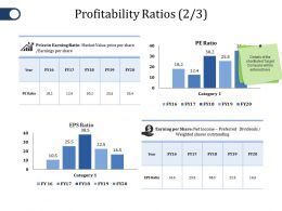 Profitability Ratios Ppt File Display