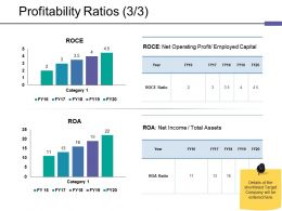 Profitability Ratios Ppt Outline