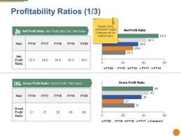 Profitability Ratios Ppt Portfolio Diagrams