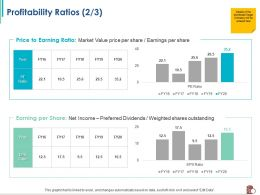 Profitability Ratios Shares Outstanding Ppt Powerpoint Presentation Professional Graphics