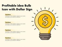 Profitable Idea Bulb Icon With Dollar Sign