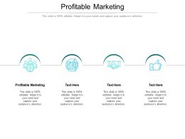 Profitable Marketing Ppt Powerpoint Presentation Introduction Cpb