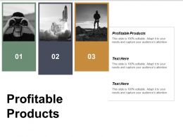 Profitable Products Ppt Powerpoint Presentation Model Design Inspiration Cpb