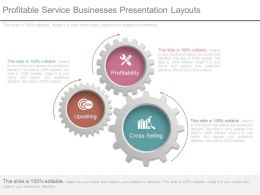 Profitable Service Businesses Presentation Layouts