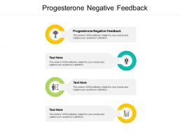 Progesterone Negative Feedback Ppt Powerpoint Presentation Pictures Information Cpb
