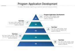 Program Application Development Ppt Powerpoint Presentation Slides Graphics Cpb