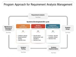 Program Approach For Requirement Analysis Management