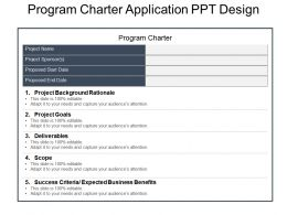 Program Charter Application Ppt Design