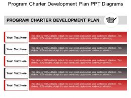 Program Charter Development Plan Ppt Diagrams