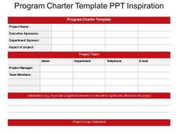 Program Charter Template Ppt Inspiration