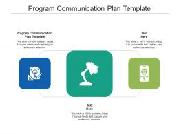 Program Communication Plan Template Ppt Powerpoint Presentation Outline Background Images Cpb