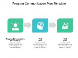 Program Communication Plan Template Ppt Powerpoint Professional Show Cpb