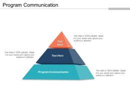 Program Communication Ppt Powerpoint Presentation Gallery Microsoft Cpb