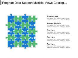 Program Data Support Multiple Views Catalog Data Organized