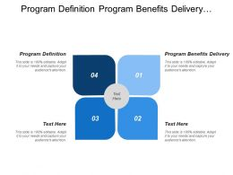 Program Definition Program Benefits Delivery Benefits Identification Benefits Delivery