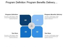 Program Definition Program Benefits Delivery Benefits Identification Benefits Delivery