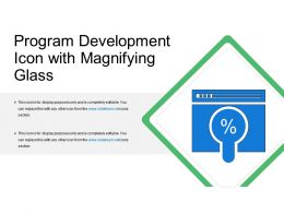 Program Development Icon With Magnifying Glass