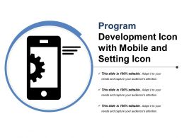 Program Development Icon With Mobile And Setting Icon