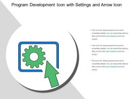 Program Development Icon With Settings And Arrow Icon