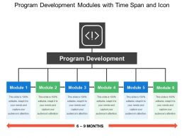 Program Development Modules With Time Span And Icon