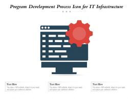 Program Development Process Icon For IT Infrastructure
