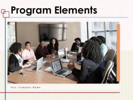Program Elements Business Management Communication Marketing Assessment