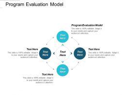 Program Evaluation Model Ppt Powerpoint Presentation Topics Cpb