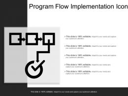 Program Flow Implementation Icon