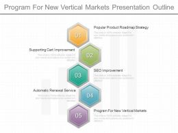 Program For New Vertical Markets Presentation Outline