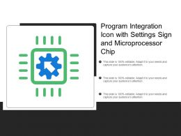 Program Integration Icon With Settings Sign And Microprocessor Chip