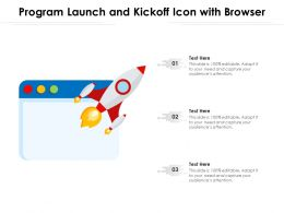 Program Launch And Kickoff Icon With Browser