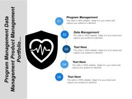 Program Management Data Management Product Management Portfolio Management