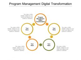 Program Management Digital Transformation Ppt Powerpoint Presentation Show Picture Cpb