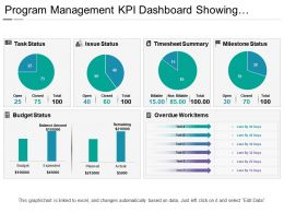 Program Management Kpi Dashboard Showing Timesheet Summary