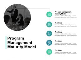 Program Management Maturity Model Ppt Powerpoint Presentation Designs Cpb