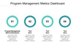 Program Management Metrics Dashboard Ppt Powerpoint Presentation Layouts Graphics Cpb