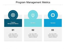Program Management Metrics Ppt Powerpoint Presentation Outline Background Cpb