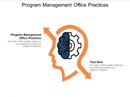 Program Management Office Practices Ppt Powerpoint Presentation Gallery Guidelines Cpb