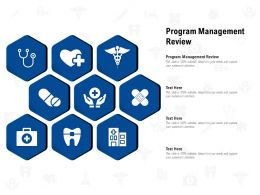 Program Management Review Ppt Powerpoint Presentation Inspiration Example