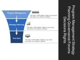 Program Management Strategy Planning Governance Forums Decisions Rights