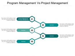 Program Management Vs Project Management Ppt Powerpoint Presentation Layouts Clipart Images Cpb