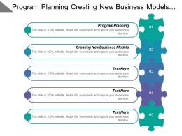 Program Planning Creating New Business Models Improving Energy Efficiency