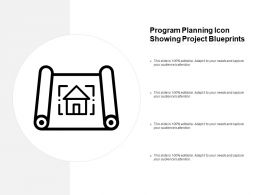 Program Planning Icon Showing Project Blueprints