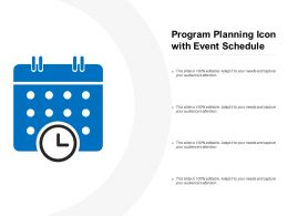 Program Planning Icon With Event Schedule