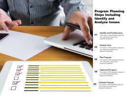 Program Planning Steps Including Identify And Analyse Issues