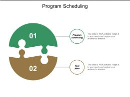 Program Scheduling Ppt Powerpoint Presentation Show Aids Cpb