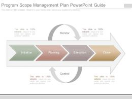 Program Scope Management Plan Powerpoint Guide
