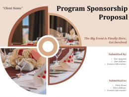 Program Sponsorship Proposal Powerpoint Presentation Slides