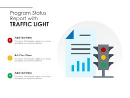 Program Status Report With Traffic Light