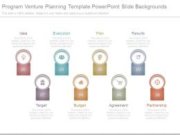 Program Venture Planning Template Powerpoint Slide Backgrounds